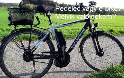 Pedelec vagy e-bike? Melyik való nekem?