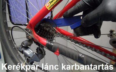 Kerékpár lánc karbantartás